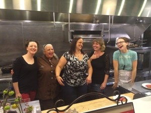Indy Chef Chicks Chocolate & Coffee dinner participants (from left) ERin Kem, Julie Bolejack, Jessica Taylor, Abbi Merriss and Zoe Taylor.