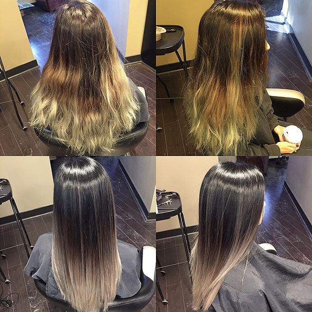 Hair Correction : Michael Salon - Balayage Hair Color Corrections