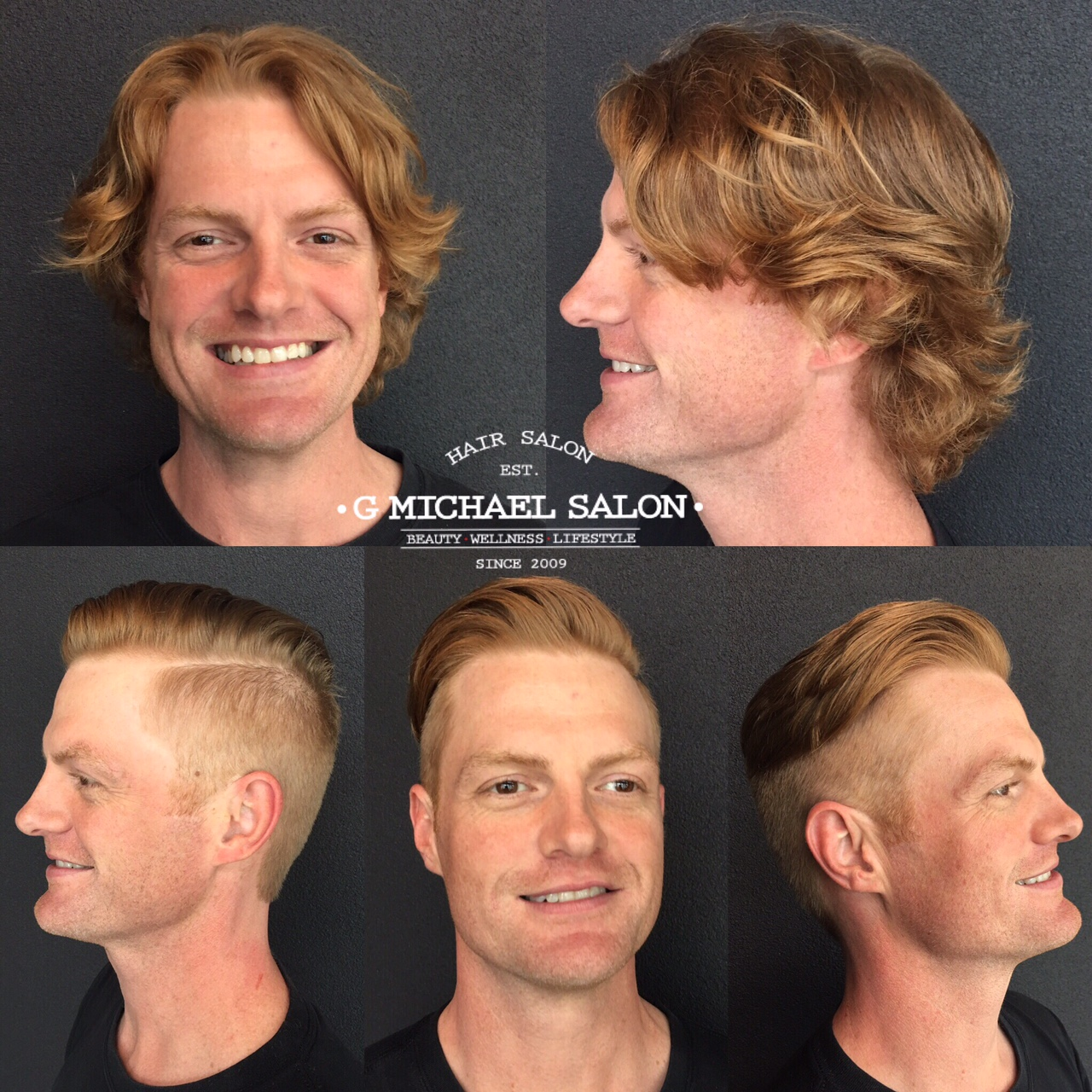 Great Before and After Men's Haircuts by G Michael Salon