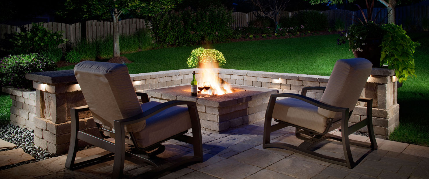 outdoor gas fire place