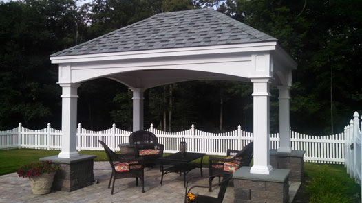 Pergolas provide shade and visual interest on patios. They are great to  dine under and light up once the sunsets. Our pergolas are typically made  of wood, ... - Patios And Pergolas Cutting Edge Hardscapes