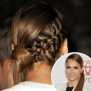 Jessica Alba's Braided Ponytail - G Michael Salon Indianapolis