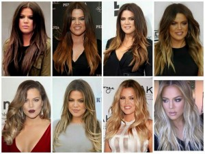 Khloe Kardashian Hair Transformation - Dark Brown to Platinum Blonde
