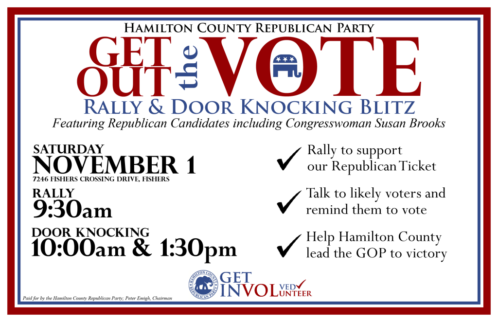 November 1 GOTV Rally and Door Knocks