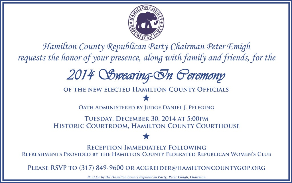 2014 Swearing In Invitation